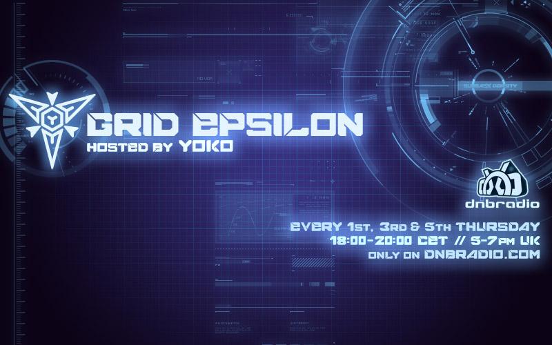 Grid Epsilon :45 - Yoko (2017) - listen on dnbradio.com